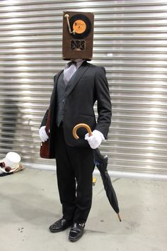 Amazing Cosplay, Best Cosplay, Cosplay Costumes, Halloween Costumes, Object Heads, Tv Head, Pose Reference Photo, Large Eyes, Robots