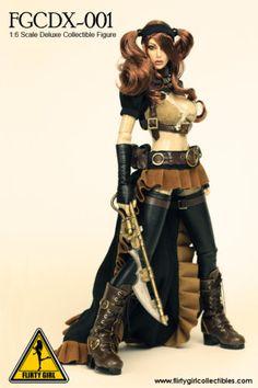 1-6-Flirty-Girl-Steam-Punk-Female-Phicen-Triad-Hot-Kumik-Cy-Girl-Toys