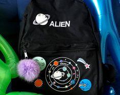 Espacio extraterrestre grunge mochila