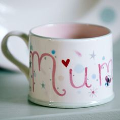 This hand painted Mummy mug is the perfect gift for Mother's Day.