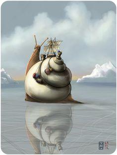 petitpoulailler:  themagicfarawayttree: 2012 Matthew Watkins -The North West Passage