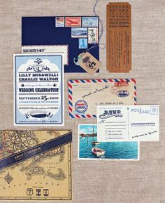 cute travel invites