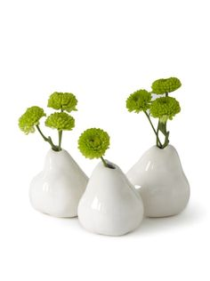 Rose and Iris Set of 3 Pear Vases at MYHABIT