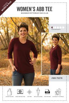 Anything But Basic Free Women s Tee Shirt Pattern 8b4a3e962
