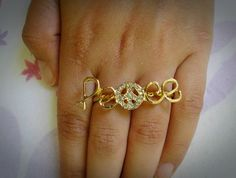 Anel Peace. Ring.