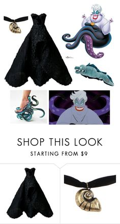 """""""Ursula - The little mermaid"""" by gryffindormermaid ❤ liked on Polyvore featuring Nedret Taciroglu Couture, Disney and Flotsam & Jetsam"""