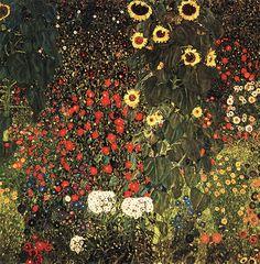 구스타프 클림트, [꽃이 있는 농장 정원], 1906년경