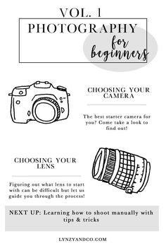 Photography for Beginners Vol. 1 Photography For Beginners // Photography Tips for those who want to find a beginner DSLR camera and lens! Best Camera For Photography, Photography Tips For Beginners, Photography Lessons, Photography Camera, Digital Photography, Photography Basics, Creative Photography, Photography Jobs, Photography Business