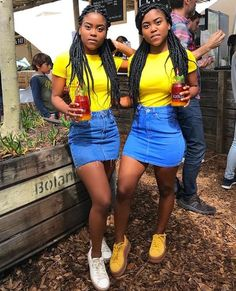 the fit . Twin Outfits, Dope Outfits, Teen Fashion Outfits, Outfits For Teens, Summer Outfits, Girl Outfits, Matching Outfits Best Friend, Best Friend Outfits, Bff