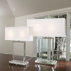 The Global Views Crystal Slab Table Lamp has nothing to hide, and really couldn Slab Table, Table Lamp Base, Table Lamps, Dining Table, Bathroom Design Luxury, Home Interior Design, Modern Interior, Unique Floor Plans, Home Decor Bedroom