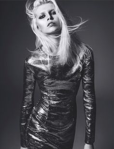 Ola Rudnicka gets glammed up for Numero Magazine April 2014