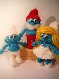 Mis Blanditos Amigurumis: Patrón Pitufo amigurumi, tamaño real, Crochet Game, Diy Crochet, Crochet Patterns Amigurumi, Crochet Dolls, Chrochet, Small Gifts, Fashion Dolls, Smurfs, Free Pattern