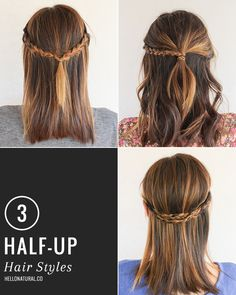 3 Chic Half-Up Hairstyles with One Easy Technique | HelloNatural.co
