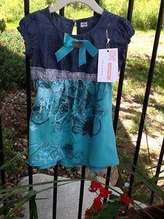 Upcycled Tshirt+ denim dress = sawheet!