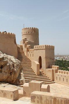 Nakhal Fort in Al Batinah Region, Oman      by LittleMissBigFeet, via Flickr