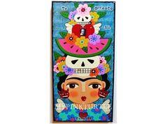 Frida Kahlo Day of the Dead Offrenda 5 x 10 by MyPinkTurtleShop