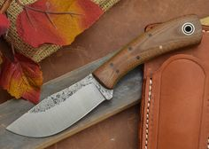Fiddleback Forge: Custom Knife, KPH Antique Canvas