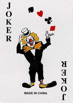 Joker playing card, Jokers and Playing cards on Pinterest