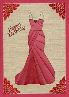 iris folding gown card - bjl