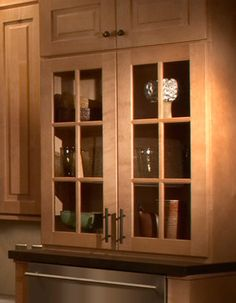 Black Mission Style Cabinets With Mullion Doors And Gl Inserts Kitchens Pinterest