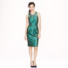 jeweled jacquard dress