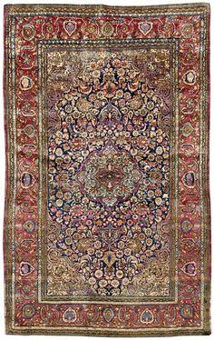 Persian Keshan silk rug