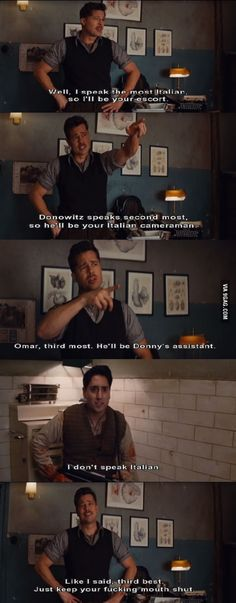 One of my favorite movie lines ever. INGLOURIOUS BASTERDS