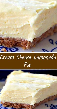 Cream Cheese Lemonade Pie, Sweet Desserts, No Bake Desserts, Easy Desserts, Delicious Desserts, Lemon Recipes, Baking Recipes, Cheesecakes, Cold Deserts