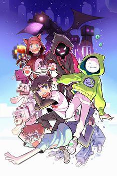 Wallpaper Minecraft, Pokemon Luna, Team Wallpaper, Dream Anime, Dream Friends, Minecraft Fan Art, My Dream Team, Dream Art, Cute Art