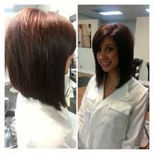 medium angled bob hairstyles with bangs over 40 - Google Search