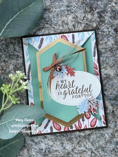 Fun Fold Cards, Folded Cards, Stampin Pretty, Stampin Up, Leaf Cards, Seasons Of The Year, Metallic Paper, Fall Cards, Blank Cards