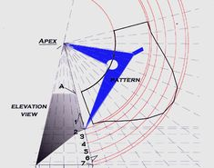 Developing a pattern for a cone with a pitch using radial line development Sheet Metal Drawing, Sheet Metal Work, Metal News, English Wheel, Sheet Metal Fabrication, Metal Forming, Lathe Projects, Barn Plans, Mopeds