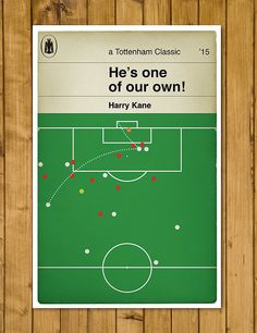 Tottenham Hotspur FC - Harry Kane - He's one of our own - Penguin Classic Book Cover Poster (UK and US sizes available)