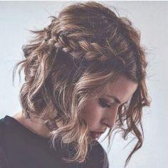 Nice braided hairstyles for medium length hair - Nice braids for medium length hair Beautiful braids for medium length hair (hair bob) 5317766684979 - Braids For Medium Length Hair, Medium Long Hair, Braids For Short Hair, Short Hair Cuts, Medium Hair Styles, Curly Hair Styles, Nice Braids, Dutch Braids, French Braids