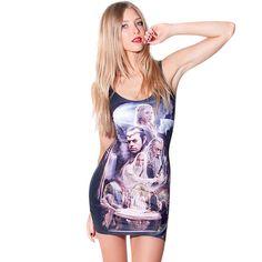 Sleeveless cute summer fashion short dresses suit women WM-BT001