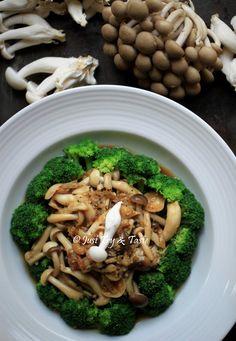 Brokoli Siram Jamur Bawang Putih