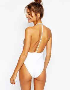 04d56f9be8 ASOS T Back High Leg Plunge Swimsuit at asos.com. Plunging One Piece ...