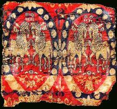 Beautiful Antiquity Sassanian Textile (224-651 AD) , Iran