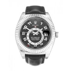 Rolex Sky-Dweller Black Arabic Mens Watch 326139
