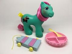 Vintage My Little Pony G-1 MLP ~ PLAYTIME BROTHER PAWS & HTF ACCESSORIES LOT!