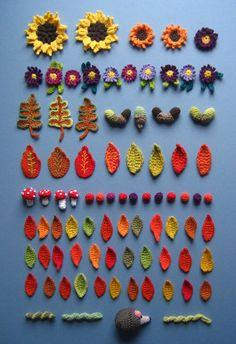 Making an Autumn Crochet Wreath
