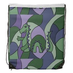 Funny Loch Ness Monster Abstract Backpack #lochness #monster #funny #backpack And www.zazzle.com/naturesmiles*