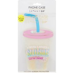 Skinnydip's slushie iPhone case is the perfect way to add a little fun to your technology. The sour pink lemonade case, crafted from resilient silicone and featuring a screen protector, allows you to make calls and type texts, while. Silicone Iphone Cases, Ipod Cases, Iphone Case Covers, Skinnydip London, Slushies, Pink Lemonade, Tech Accessories, Dips, Gadgets