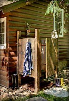 Great looking outdoor shower