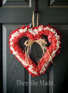 valentine's wreath- too cute!