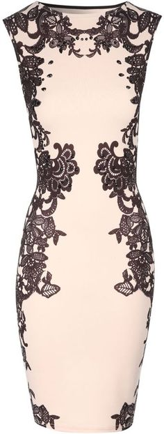 Jane Norman Lace print embellished bodycon dress on shopstyle.co.uk