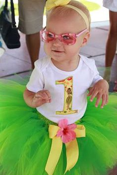 outfit idea for caelynn's 1st birthday luau.