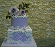 Purple engagement cake  - Cake by Sara Mohamed