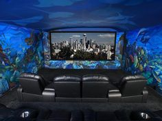 Ocean-Themed Home Theater | HGTVRemodels.com