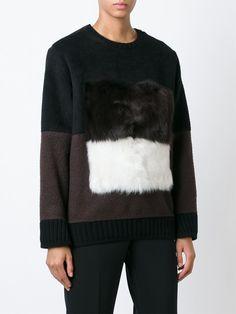 #fendi #sweater #fur #black #white #women #fashion #style www.jofre.eu